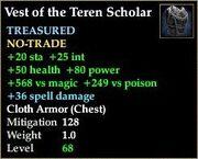 Vest of the Teren Scholar