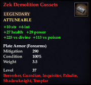 Zek Demolition Gussets