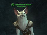 A Sabertooth diviner (Thundering Steppes)