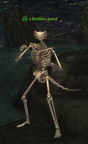 A fleshless guard