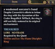 A weakened sorcerer's band