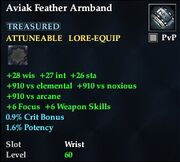 Aviak Feather Armband