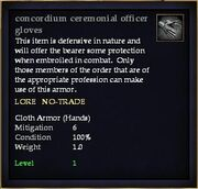 Concordium ceremonial officer gloves