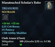 Manatouched Scholar's Robe