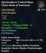 Spiritwalker's Umbral Rune Chain Boots of Summons