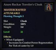 Azure Ruckas Traveler's Cloak