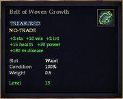 Belt of Woven Growth