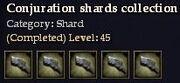CQ shard conjuration Journal