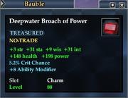 Deepwater Broach of Power