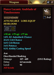 Fierce Lucanic Axeblade of Timelessness
