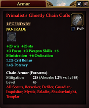 Primalist's Ghostly Chain Cuffs