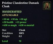 Pristine Clandestine Damask Cloak