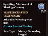 Sparkling Adornment of Blasting (Greater)