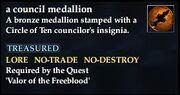 A council medallion