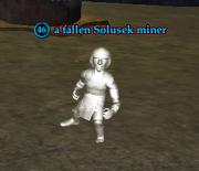 A fallen Solusek miner