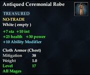 Antiqued Ceremonial Robe