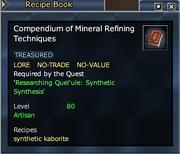 Compendium of Mineral Refining Techniques
