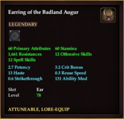 Earring of the Badland Augur