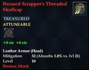 Focused Scrapper's Threaded Skullcap