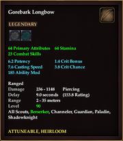 Gorebark Longbow
