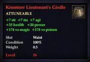 Kromtorr Lieutenant's Girdle