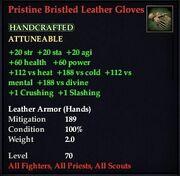 Pristine Bristled Leather Gloves