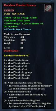 Reckless Plunder Bracers
