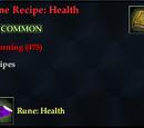 Rune Recipe: Health