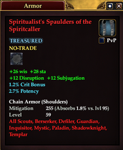Spiritualist's Spaulders of the Spiritcaller