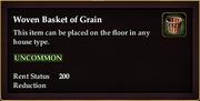 Woven Basket of Grain