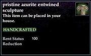 Azurite Entwined Sculpture