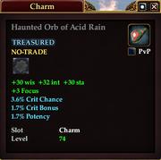 Haunted Orb of Acid Rain