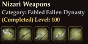 Nizari Weapons