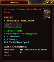 Sacrosanct Gloves of the Forest Scion