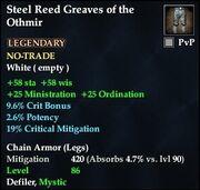 Steel Reed Greaves of the Othmir