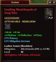 Unailing Shoulderpads of Zeng'Tcho