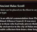 An Ancient Halas Scroll