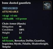 Bone dusted gauntlets