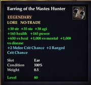 Earring of the Wastes Hunter
