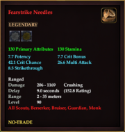 Fearstrike Needles