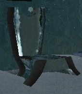 Frost-rimed chair (Visible)