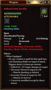 Imbued Iron Javelin
