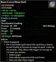 Rune-Carved Bone Staff