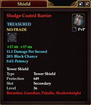 Sludge-Coated Barrier