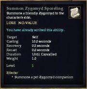 Summon Zygomyd Sporeling