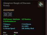 Almsgiven Bangle of Draconic Victory
