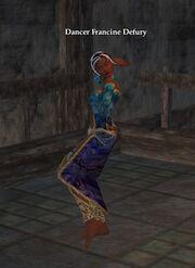 Dancer Francine Defury