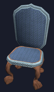 Formal mahogany dining chair (Visible)