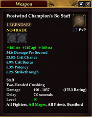 Frostwind Champion's Bo Staff