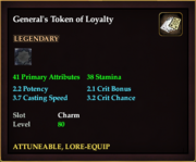 General's Token of Loyalty